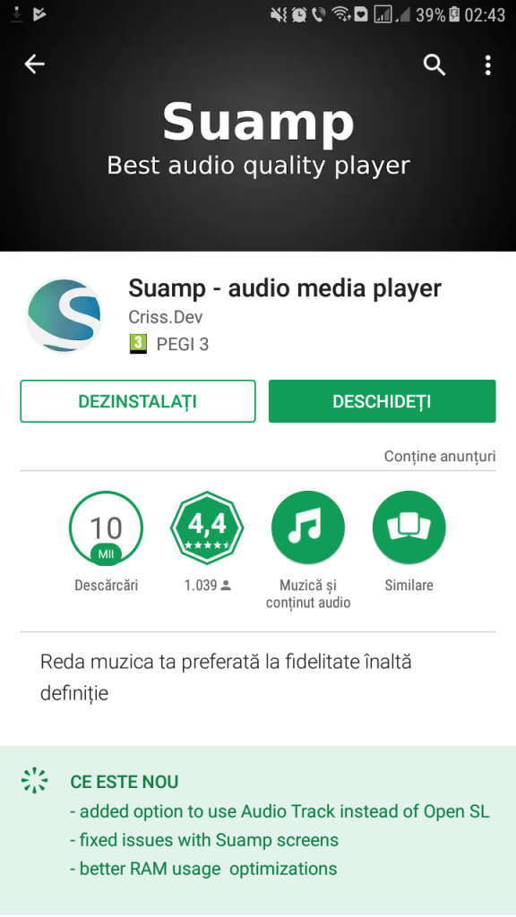 Suamp – ruleaza youtube in fundal.